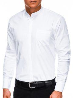 Pánská elegantní košile s dlouhým rukávem K307 – bílá