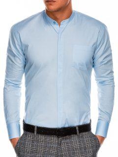 Pánská elegantní košile s dlouhým rukávem K307 – blankytná
