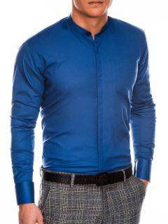 Pánská elegantní košile s dlouhým rukávem K307 – světle námořnická