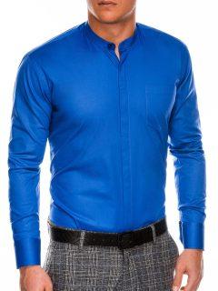 Pánská elegantní košile s dlouhým rukávem K307 – nebesky modrá