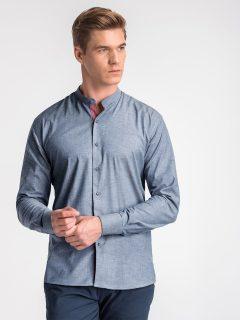 Pánská košile s dlouhým rukávem K488 – námořnická