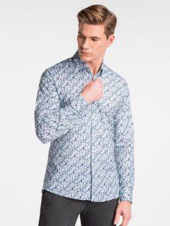 Pánská košile s dlouhým rukávem K491