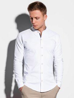Pánská košile s dlouhým rukávem K542 – bílá