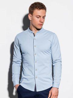 Pánská košile s dlouhým rukávem K542 – nebesky modrá
