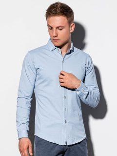 Pánská košile s dlouhým rukávem K540 – nebesky modrá