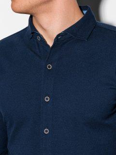 Pánská košile s dlouhým rukávem K540 – námořnická