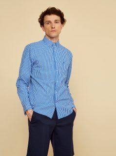 Modrá pánská kostkovaná košile ZOOT Kurt