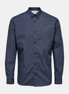 Tmavě modrá vzorovaná košile Selected Homme Roy