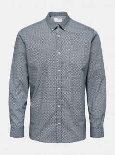 Modrá vzorovaná košile Selected Homme Roy