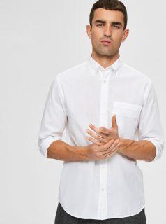 Bílá košile Selected Homme-Regmagic