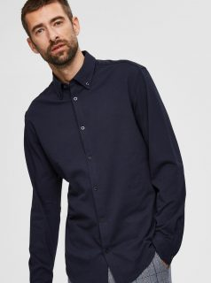 Tmavě modrá košile Selected Homme-Avenue
