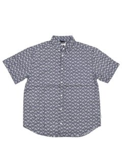 Element GLASTONBURY BLUE MAPLE košile pro muže krátký rukáv – černá