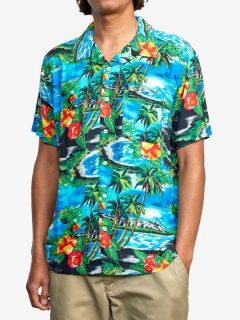 RVCA KAWELA Floral košile pro muže krátký rukáv – barevné
