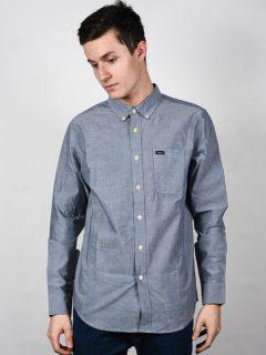 RVCA THATLL DO STRETCH OXFORD BLUE pánské košile s dlouhým rukávem – modrá