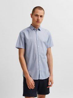 Světle modrá košile s krátkým rukávem Selected Homme Larry