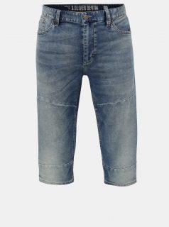 Modré pánské regular fit džínové kraťasy s.Oliver