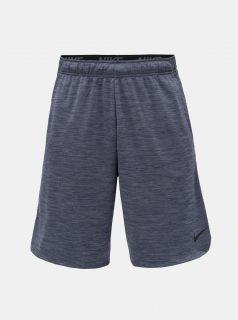 Modré pánské žíhané Dri-FIT kraťasy Nike