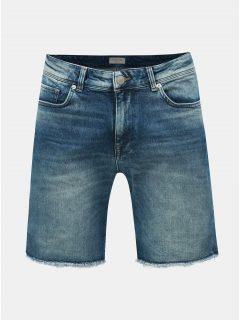 Modré džínové kraťasy Selected Homme Leonel