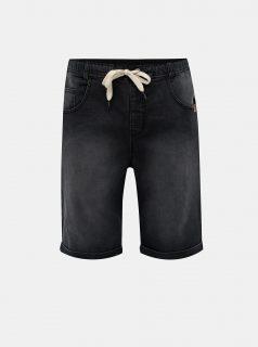 Tmavě šedé pánské džínové kraťasy LOAP Dever
