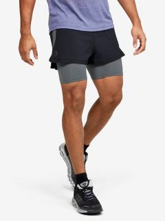 Šortky Under Armour M UA RUSH Run 2-in-1 Short – černá