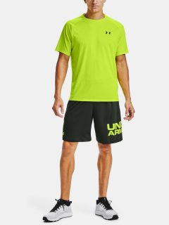 Zelené kraťasy Under Armour Tech Wordmark Shorts
