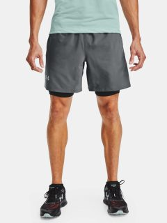 Šedé kraťasy Under Armour LAUNCH SW 2-IN-1 SHORT