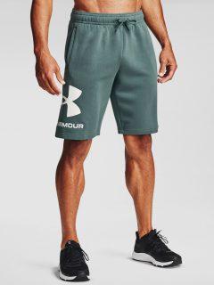 Kraťasy Under Armour UA Rival FLC Big Logo Shorts – petrolejová