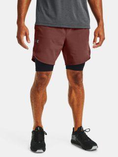 Kraťasy Under Armour UA Stretch-Woven Shorts – cihlová