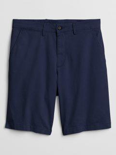 Modré pánské kraťasy v-hs – 10 in solid short