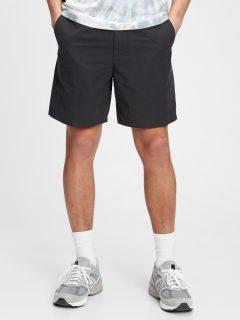 """Černé pánské kraťasy 7 easy linen shorts with e-waist """""""
