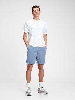"Modré pánské kraťasy 7 easy linen shorts with e-waist """