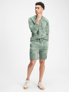 Zelené pánské kraťasy GAP Logo tie-dye pull-on shorts