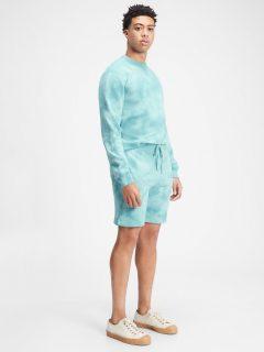 Modré pánské kraťasy GAP Logo tie-dye pull-on shorts