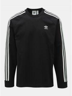 Černá pánská mikina s pruhy na rukávech adidas Originals 3-Stripes