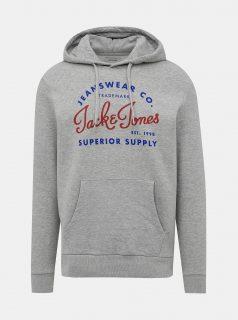Šedá mikina s potiskem Jack & Jones Logo