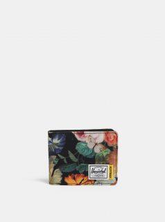 Černá květovaná peněženka Herschel Roy RFID