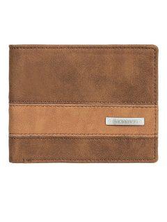 Quiksilver ARCH SUPPLIER chocolate brown pánská značková peněženka – hnědá