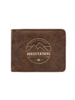 Horsefeathers CAIN brown pánská značková peněženka – hnědá