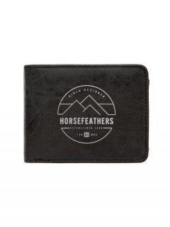 Horsefeathers CAIN black pánská značková peněženka – černá