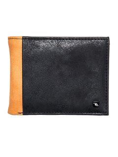 Rip Curl CONTRAST RFID PU ALL BLACK/ORANGE pánská značková peněženka – černá