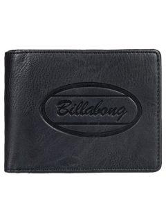 Billabong WALLED ID black pánská značková peněženka – černá