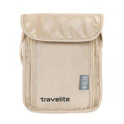 Peněženka Travelite Neck pouch RFID Beige