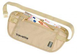 Peněženka Travelite Waist pouch RFID Beige