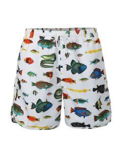 Bílé plavky s rybami Dedicated Tropical Fish