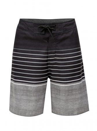 Tmavě šedé pánské pruhované plavky Rip Curl - Pánské plavky fca6bce3a8