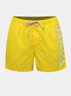 Žluté plavky s potiskem Jack & Jones Cali