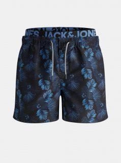 Tmavě modré vzorované plavky Jack & Jones