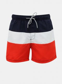Červeno-modré plavky Jack & Jones Aruba