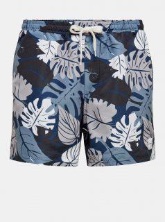 Modré vzorované plavky ONLY & SONS