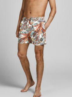 Krémové vzorované plavky Jack & Jones Maui